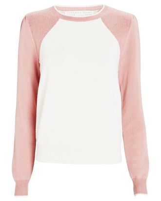 Albertina Cashmere Sweater, WHITE/PINK, hi-res