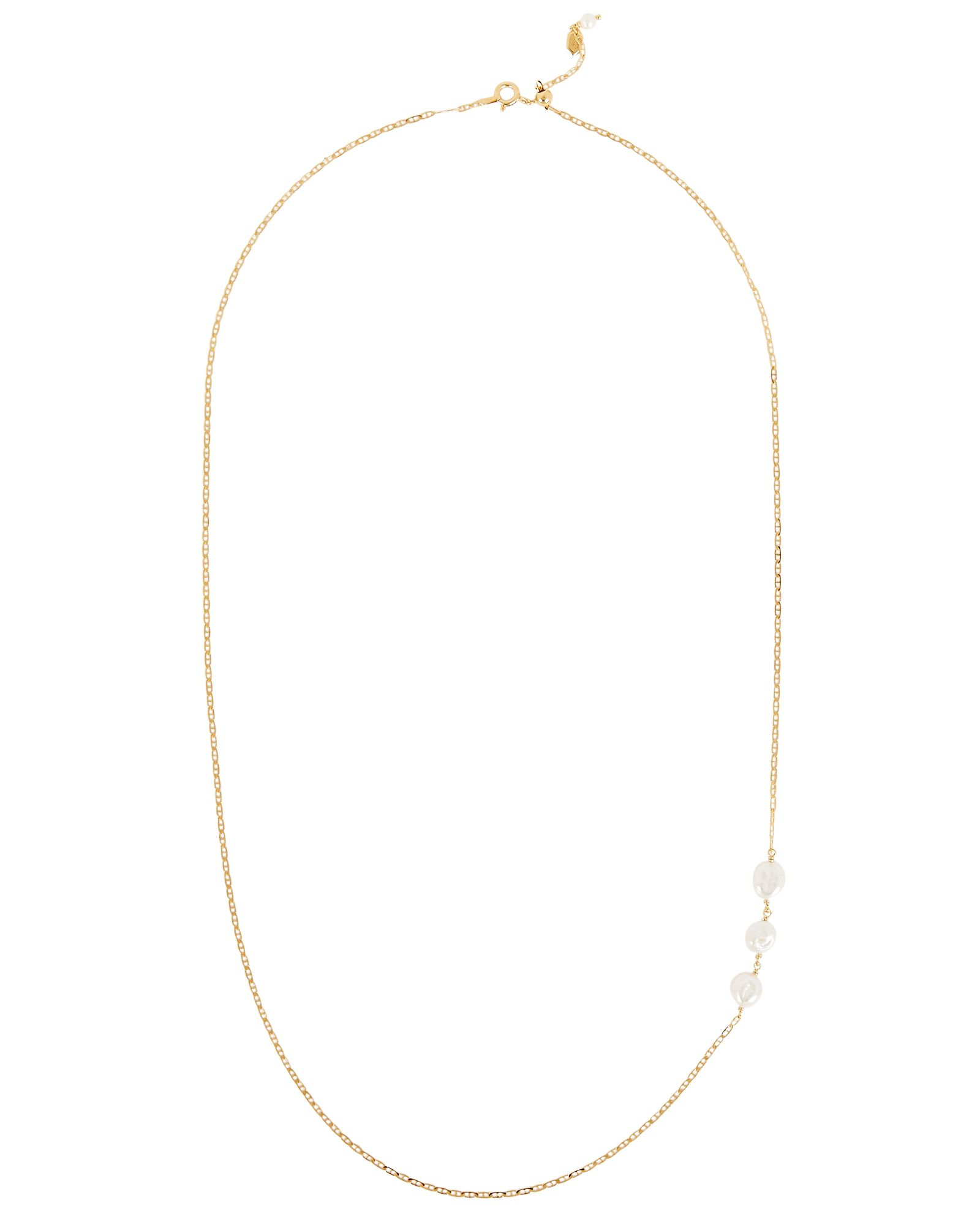 Tessoro Pearl Chain-Link Necklace, GOLD, hi-res