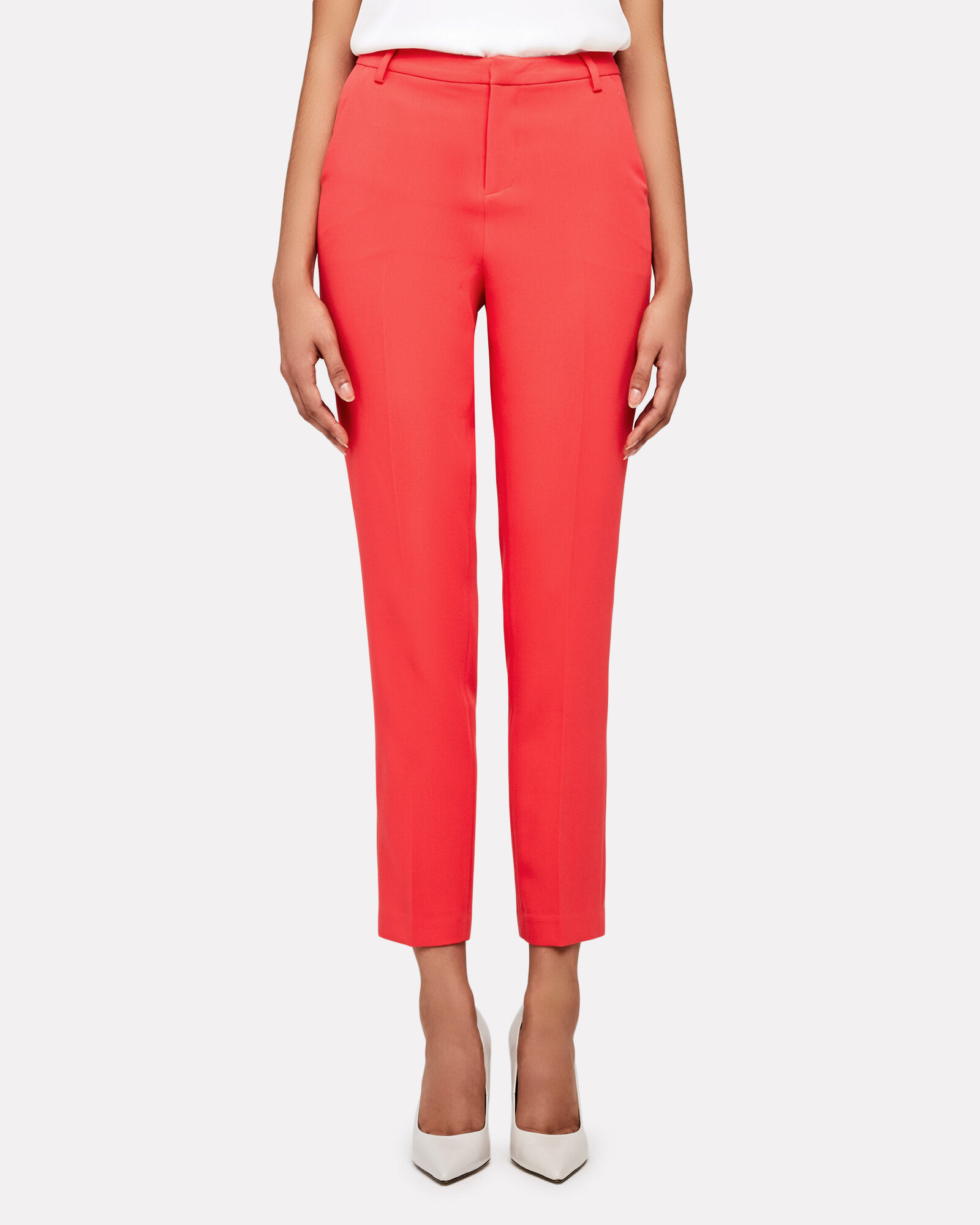 Eleanor Tailored High-Rise Pants, RED, hi-res