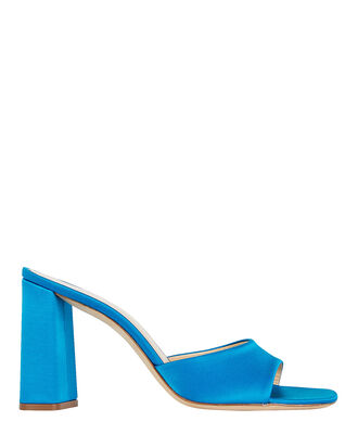 Juju Satin Slide Sandals, BLUE-MED, hi-res