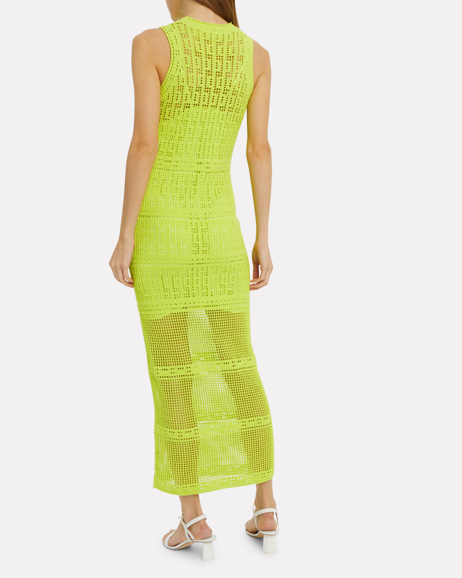 Monaghan Eyelet Sheath Dress, YELLOW, hi-res