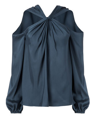 Minnie Twist Front Charcoal Top, GREY, hi-res