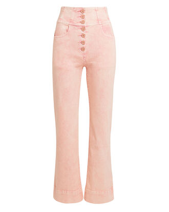 Ellis High Waisted Pink Jeans, PINK, hi-res