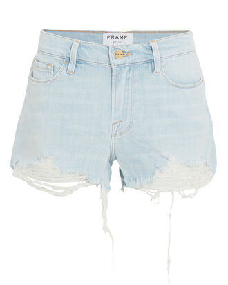 Le Cut-Off Denim Shorts, DENIM-LT, hi-res