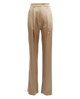 Sable Silk Wide-Leg Trousers, BEIGE, hi-res
