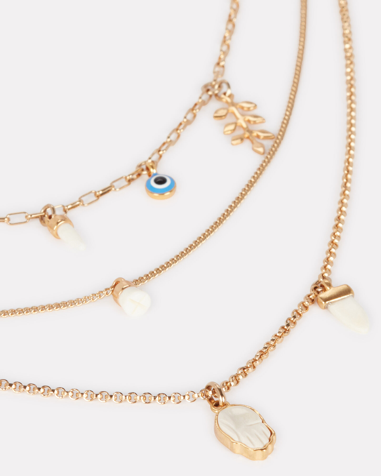 Layered Charm Necklace, , hi-res