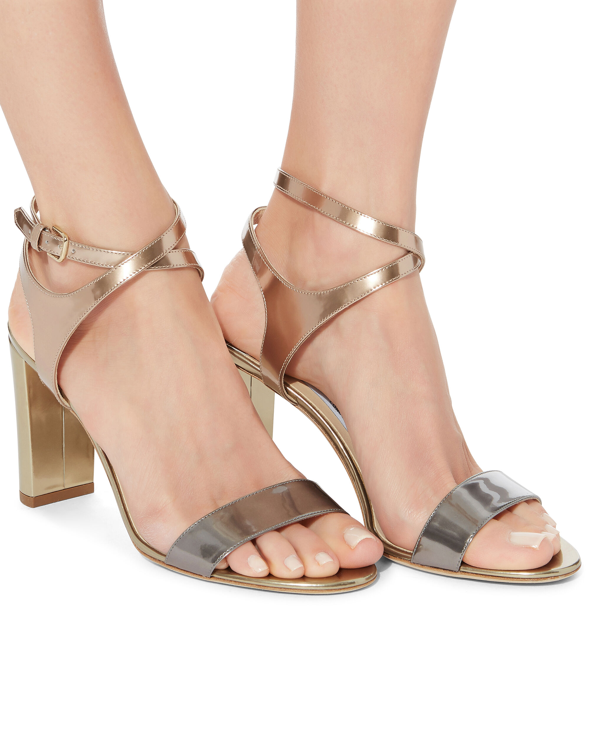 Marine Metallic High Sandals, GOLD, hi-res