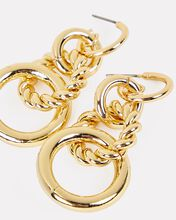 Link Circular Drop Earrings, GOLD, hi-res