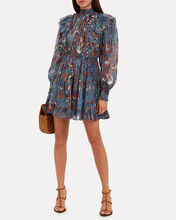 Vienne Birds Of Paradise Mini Dress, BLUE-MED, hi-res