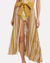 Blanche Pleated Chiffon Skirt, MARIGOLD/BLUSH, hi-res