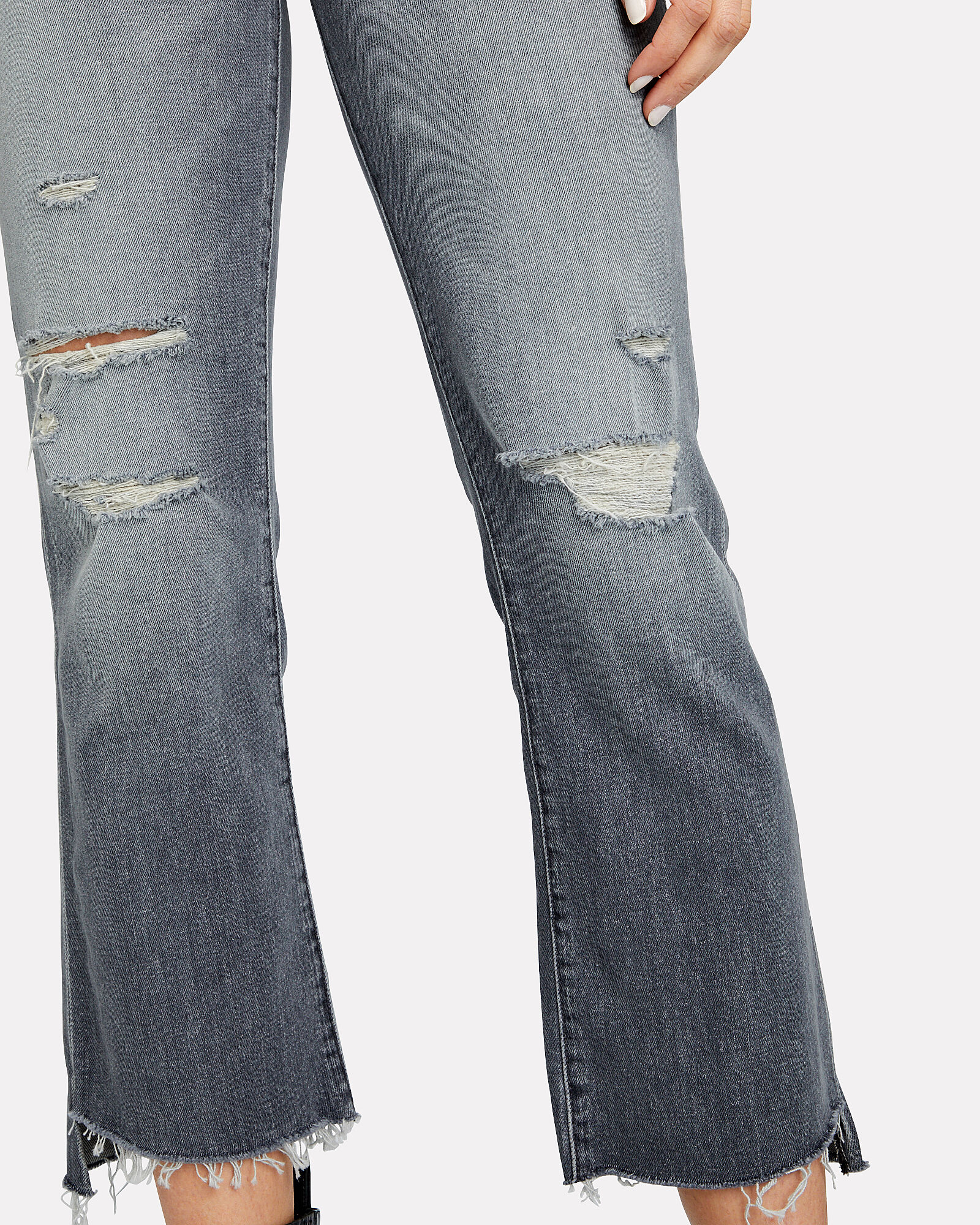 The Insider Crop Step Fray Jeans, GREY DENIM, hi-res