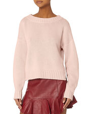 Pink Cropped Sweater, BLUSH, hi-res