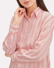 Doro Striped Woven Top, PINK/STRIPE, hi-res