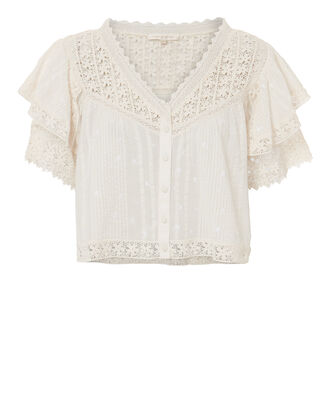 Caitlin Lace Top, IVORY, hi-res