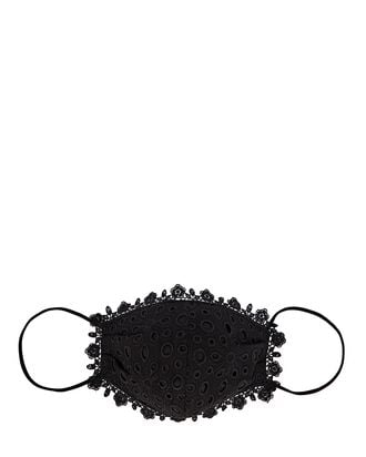 Breezy Barista Eyelet Face Mask, BLACK, hi-res