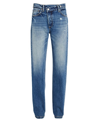 The Casey Straight-Leg Jeans, MEDIUM WASH DENIM, hi-res