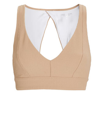 Veronica Thermal Knit Spots Bra, BEIGE, hi-res