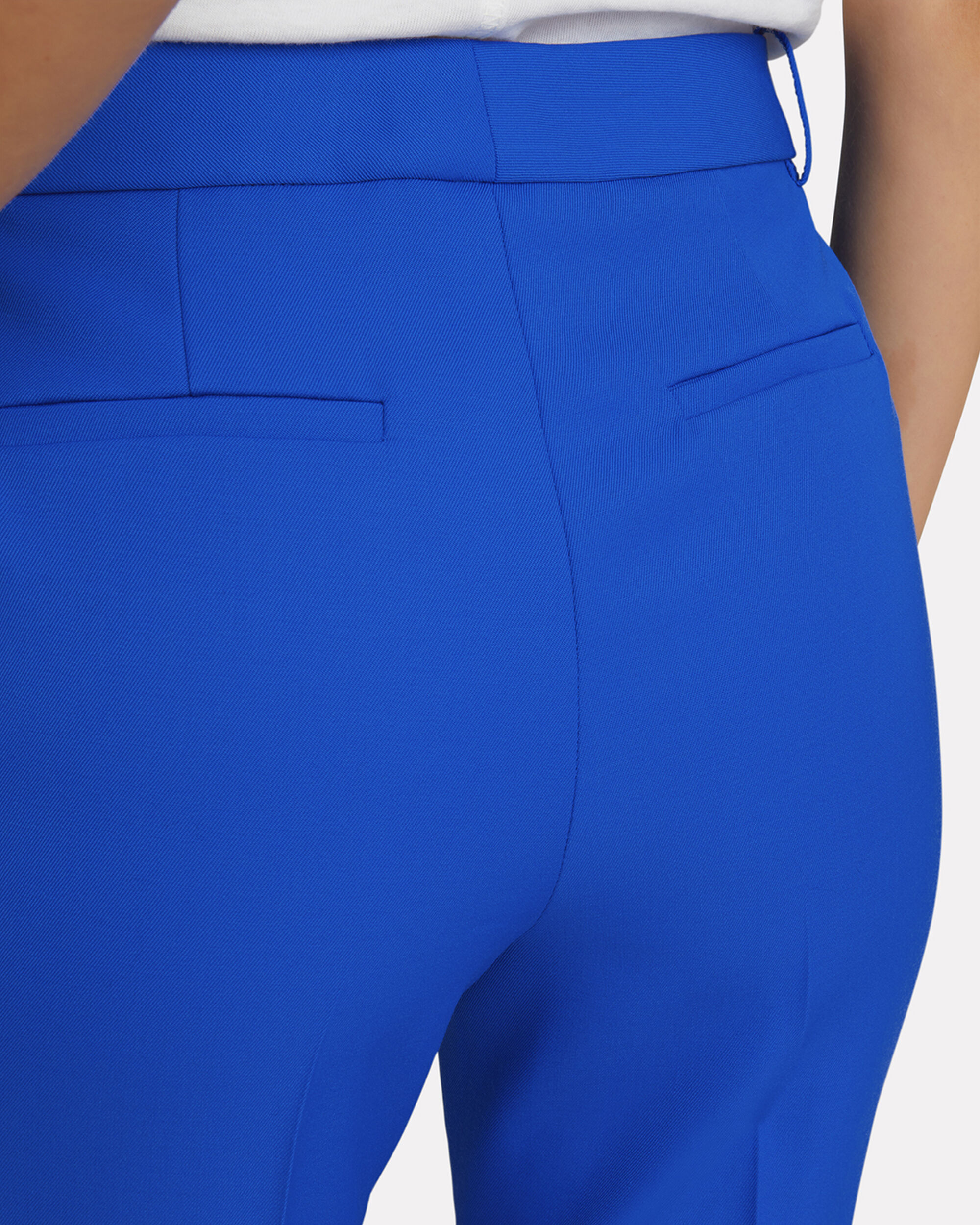 Blue Straight Leg Pants, BLUE-MED, hi-res