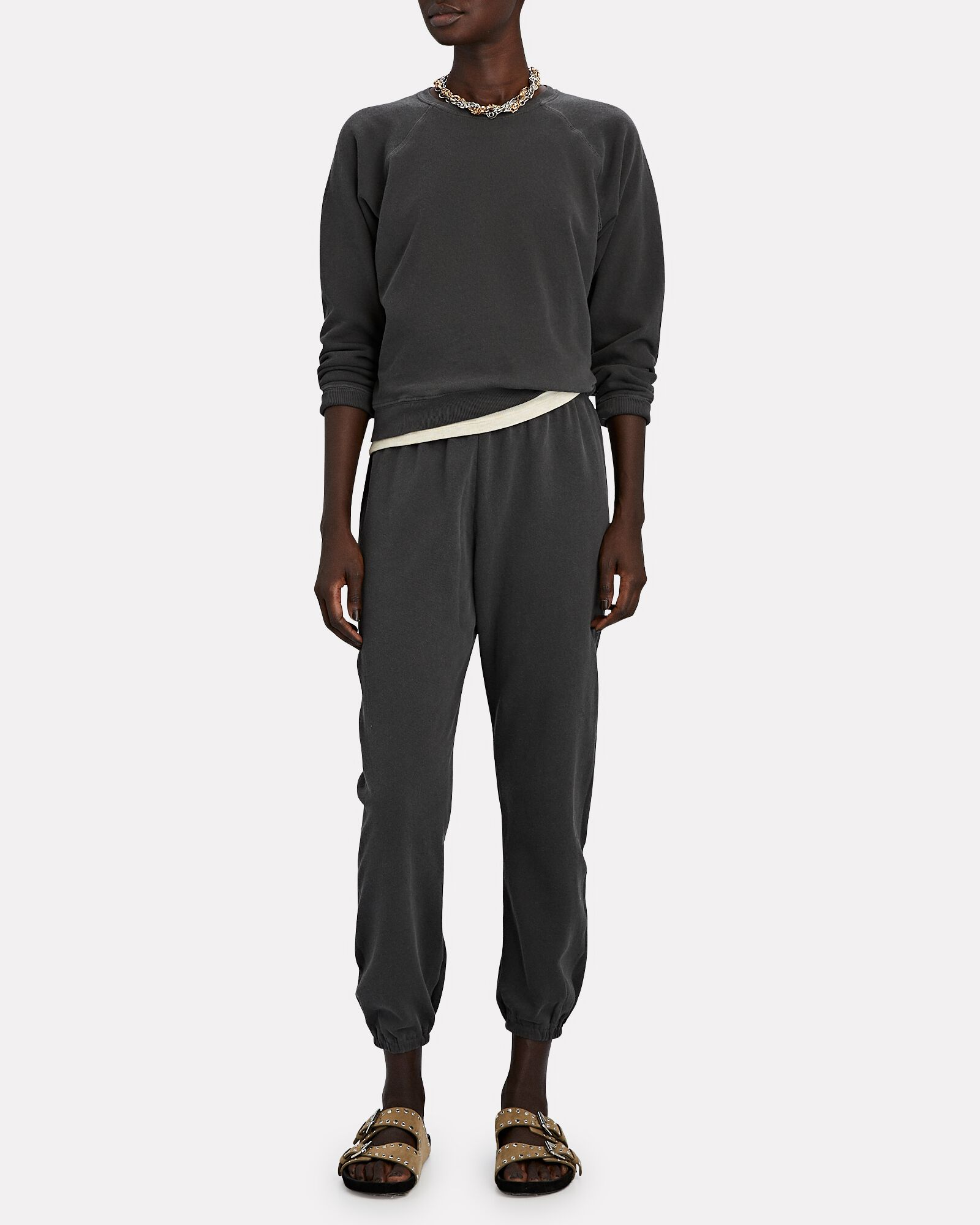 The Stadium Cropped Sweatpants, WASHED BLACK, hi-res