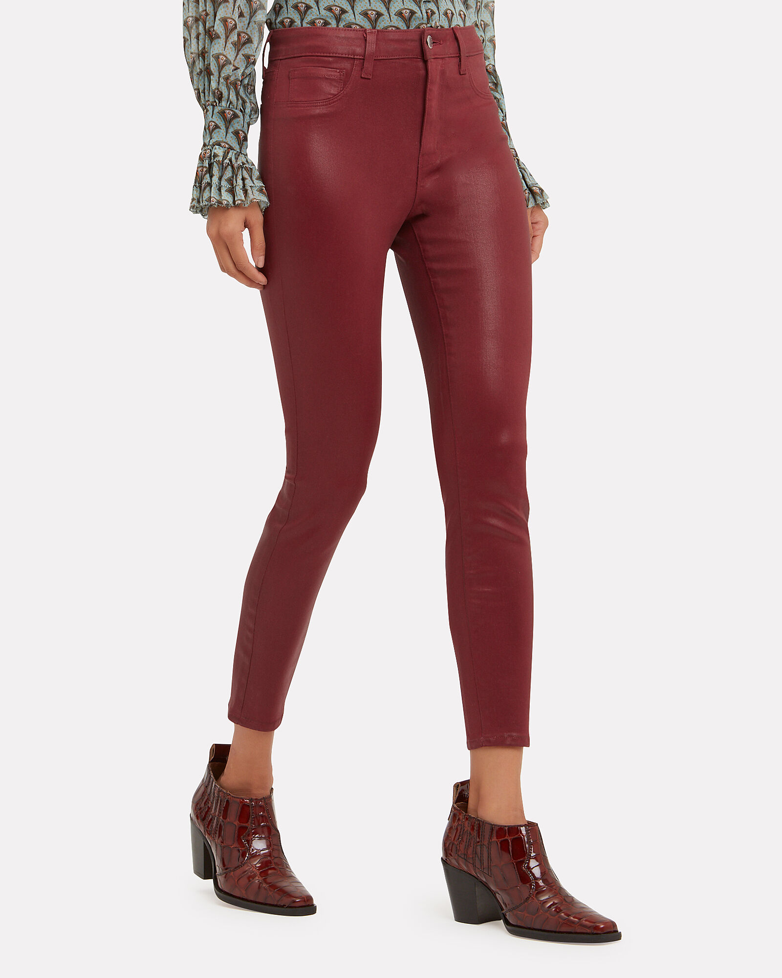 d3fdbf2ee6 ... Margot Berry Coated High-Rise Ankle Skinny Jeans