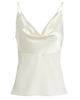 Silk Combo Cowl Camisole, IVORY, hi-res