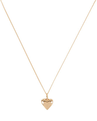 Camille Heart Pendant Necklace, GOLD, hi-res