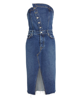 Nina Strapless Denim Dress, INDIGO DENIM, hi-res