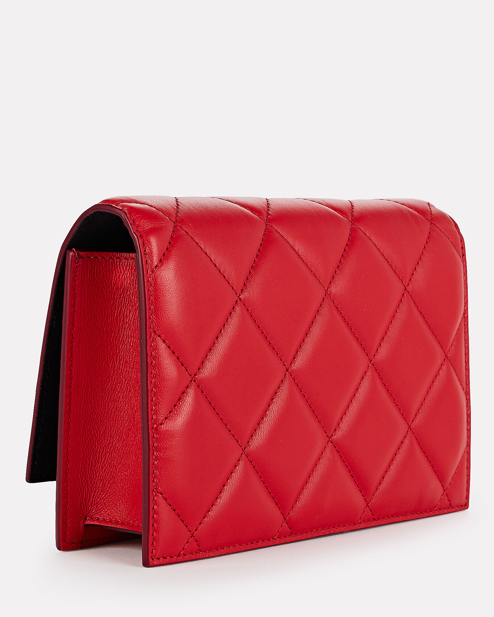 Small Two-Tone Quilted Crossbody Bag, RED/PINK, hi-res
