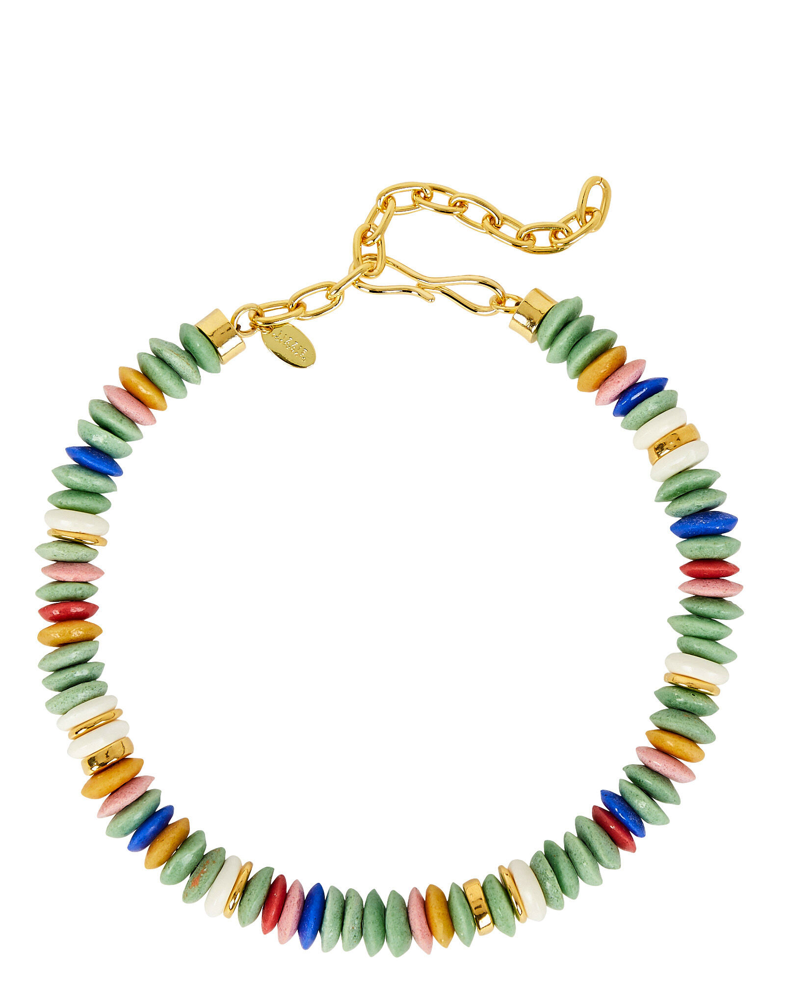Laguna Beaded Necklace, GREEN-LT, hi-res