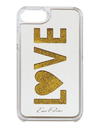 Gold Floating Love iPhone 6 or 7 Case, METALLIC, hi-res