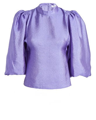 Harriet Satin Blouse, PURPLE, hi-res
