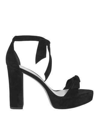 Clarita Stack Heel Platform Sandals, BLACK, hi-res