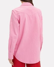 Western Colorblock Shirt, PINK/RED, hi-res