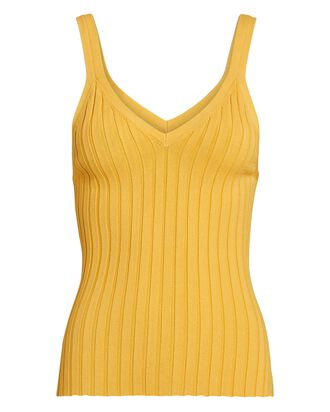 Ariana Rib Knit Tank Top, YELLOW, hi-res