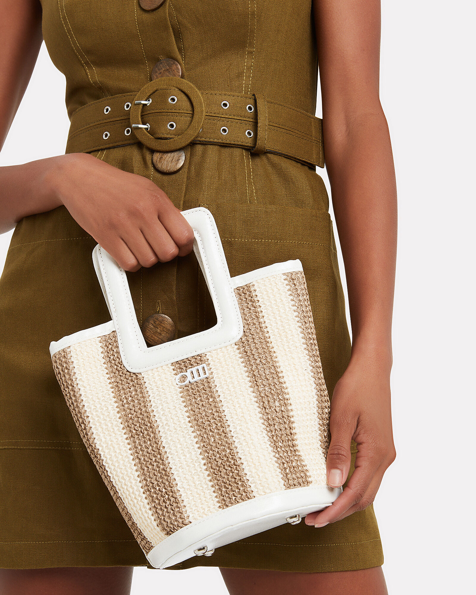 Pookie Square Handle Tote, BEIGE, hi-res