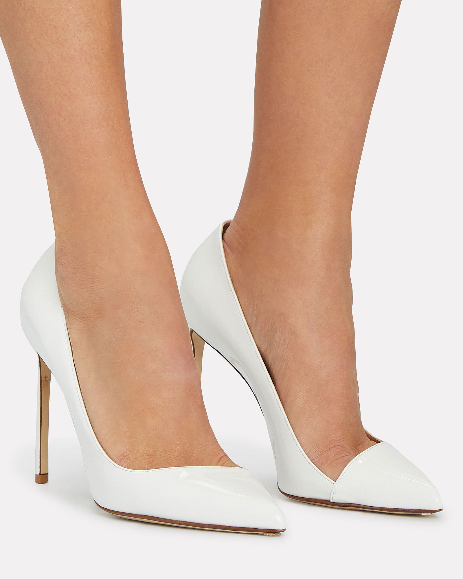 Patent Leather Pumps, WHITE, hi-res