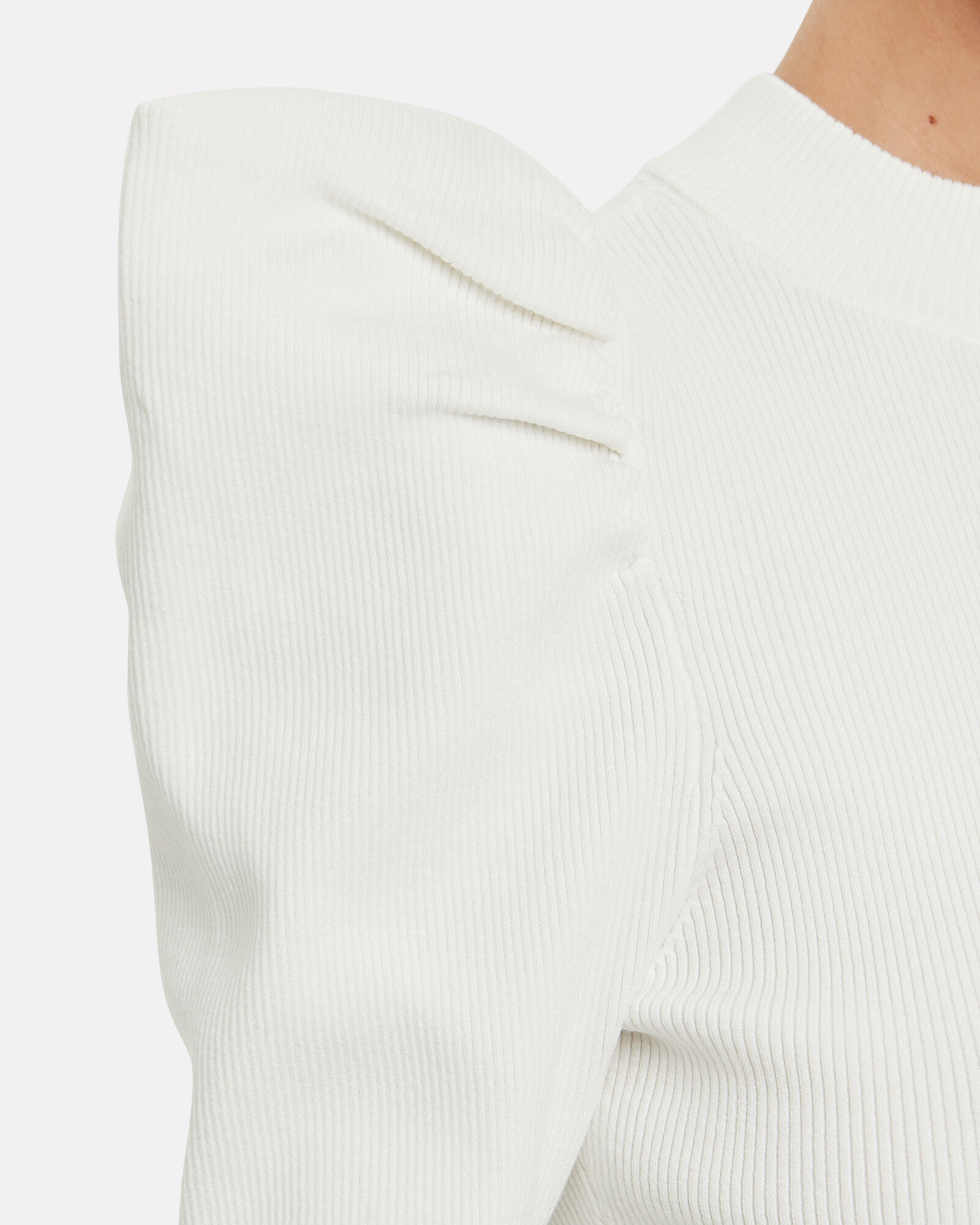 Astor Puff Sleeve Top, WHITE, hi-res