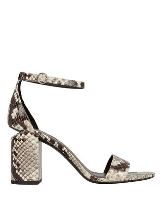 Abby Cutout Heeled Sandals, GREY/SNAKESKIN, hi-res