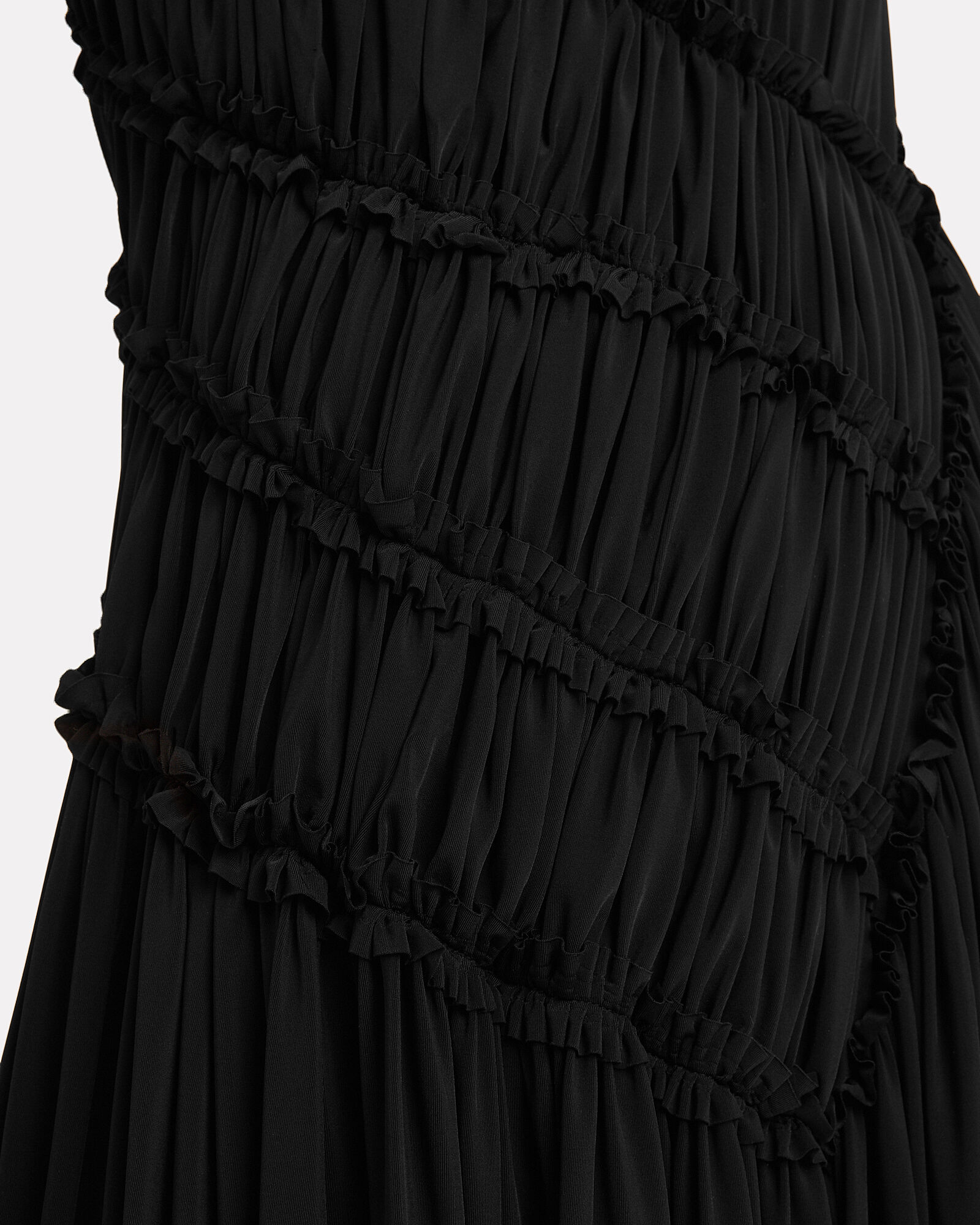 Gathered Jersey Fluid Gown, BLACK, hi-res