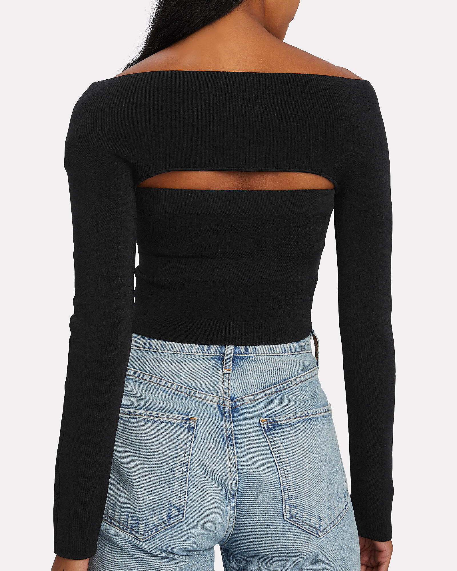 Jersey Tube Top Set, BLACK, hi-res