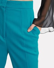 Pleat Front Trousers, BLUE-MED, hi-res