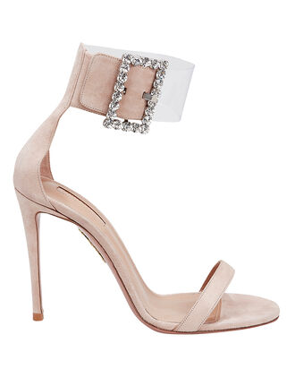 Casablanca Suede High Sandals, BEIGE, hi-res