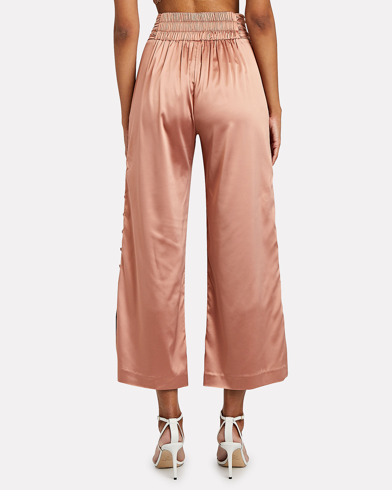 Satin Wide-Leg Trousers, , hi-res