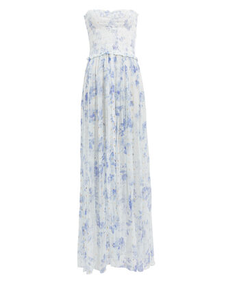Iris Blue Floral Cover-Up Dress, WHITE/BLUE FLORAL, hi-res