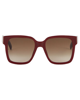 Oversized Square Sunglasses, RED-DRK, hi-res