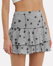Amy Gingham Embroidered Mini Skirt, MULTI, hi-res