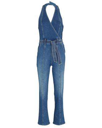 The Halter Hustler Denim Jumpsuit, GROOVY KIN, hi-res