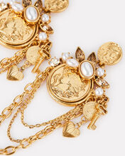 Coin Charm Earrings, GOLD, hi-res