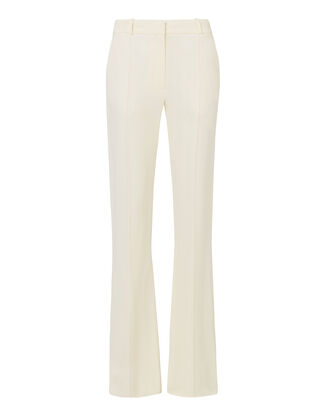 High-Rise Flare Trousers, WHITE, hi-res