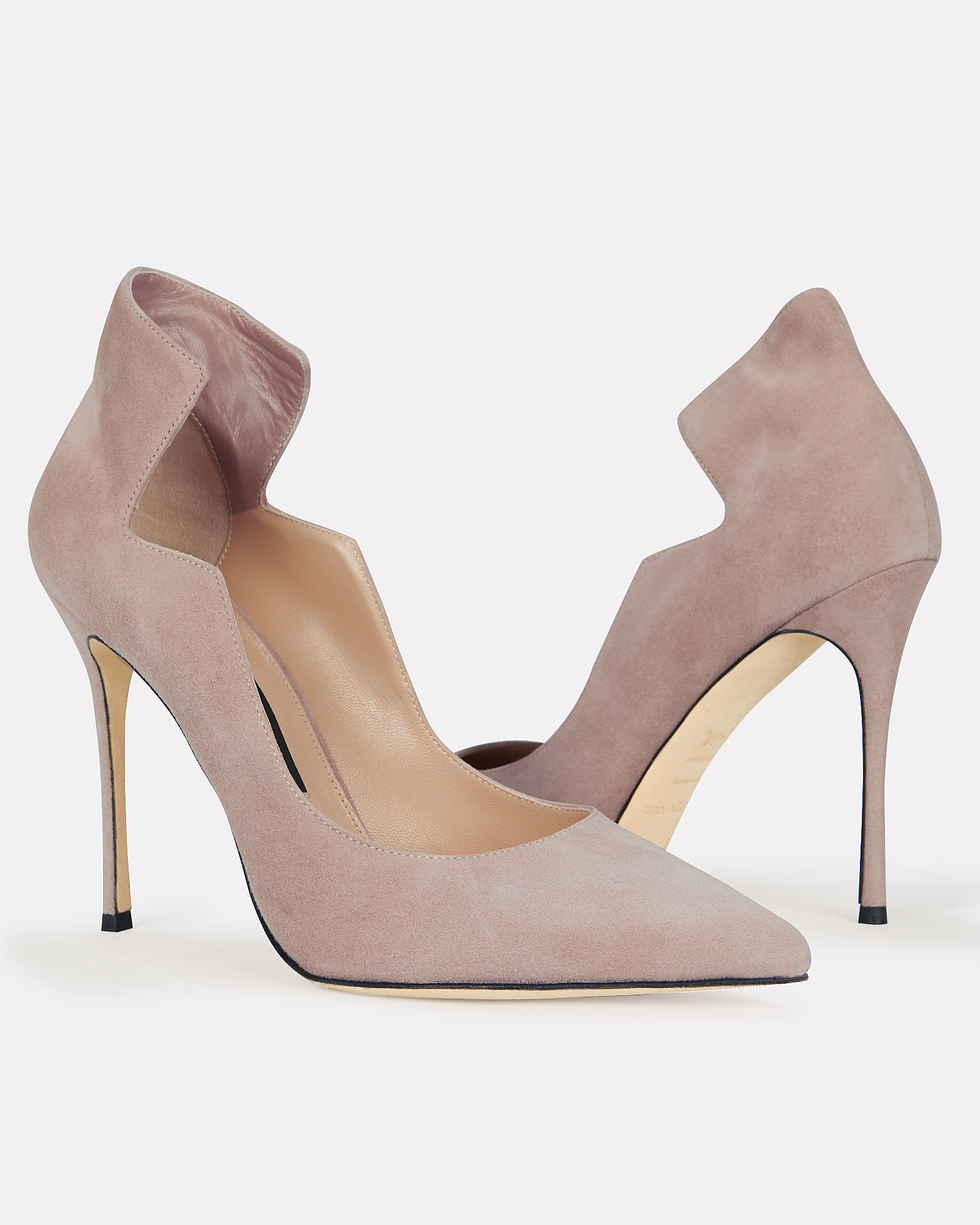 Godiva Wave Stiletto Pumps, BEIGE, hi-res